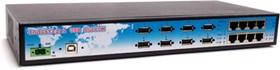 Фото 1/4 HubCOM-880i-RM, 8-портовый USB концентратор (хаб) и 8 портовый преобразователь USB в RS-232 (-40°С ~ +70°C)
