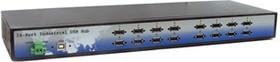 """Фото 1/4 HUB-1600i-RM, 16-портовый концентратор USB, встроенный блок питания, монтаж в стойку 19"""" (-40°С ~ +70°C)"""