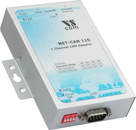 NET-CAN 110, 1-портовый преобразователь CAN в Ethernet в металлическом корпусе, крепление на DIN-рейку