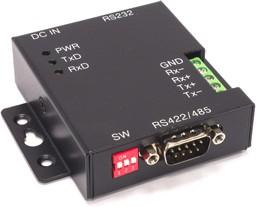 Фото 1/2 SER-COMi-M, 1-портовый преобразователь RS-232 в RS-422/485, скорость до 1 Мбод, крепление на DIN-рейку