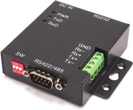 Фото 1/2 SER-COMi-SI-M, 1-портовый преобразователь RS-232 в RS-422/485, полная гальваническая изоляция скорость до 1 Мбод, D