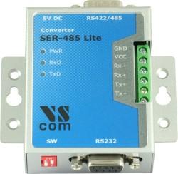 SER-485 Lite, 1-портовый преобразователь RS-232 в RS-422/485, крепление на DIN-рейку