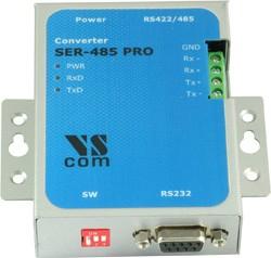 SER-485 PRO, 1-портовый преобразователь RS-232 в RS-422/485, Jumperless, крепление на DIN-рейку