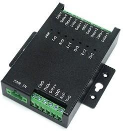 Фото 1/3 SER-4485-SI-M, 4х портовый RS-485 хаб, сплиттер и повторитель с гальв. развязкой 3кВ и защитой от перенапряжения до