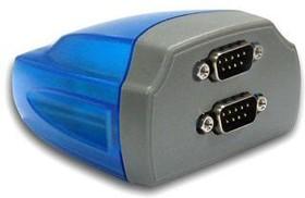 Фото 1/2 USB-2COM, 2-портовый преобразователь USB в RS-232