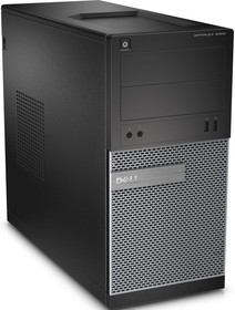Компьютер DELL Optiplex 3020, Intel Pentium G3250, DDR3 4Гб, 500Гб, Intel HD Graphics, DVD-RW, Ubuntu, черный и (3020-6804)