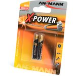 Фото 2/2 ANSMANN X-POWER 1510-0005 AAAA BL2, Элемент питания