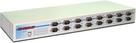 """Фото 1/3 USB-16COM-RM, 16-портовый преобразователь USB в RS-232, с возможностью установки в 19"""" стойку"""