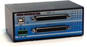 Фото 1/4 USB2-16COM-M CBL, 16-портовый преобразователь USB в RS-232 (разъём DB62), крепление на DIN-рейку