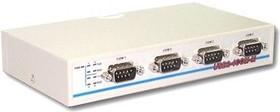 Фото 1/4 USB2-4COM-M, 4-портовый преобразователь USB в RS-232, крепление на DIN-рейку