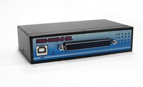 Фото 1/4 USB2-8COM-M CBL, 8-портовый преобразователь USB в RS-232 (разъём DB62), крепление на DIN-рейку