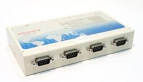 Фото 1/4 USB-4COMi-M, 4-портовый преобразователь USB в RS-422/485, крепление на DIN-рейку