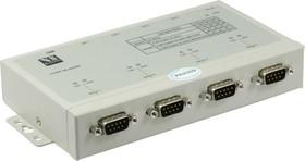 USB-4COMi-Si-M, 4-портовый преобразователь USB в RS-422/485 с гальванической изоляцией, крепление на DIN-рейку