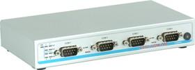 USB-4COM PRO, 4-портовый преобразователь USB в RS-232/422/485, крепление на DIN-рейку, Jumperless