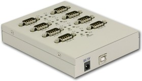 USB2-8COM-M, 8-портовый преобразователь USB в RS-232, крепление на DIN-рейку