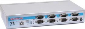 USB-8COM-PRO, 4-портовый преобразователь USB в RS-232/422/485, крепление на DIN-рейку, Jumperless