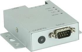 USB-COM-PRO, 1-портовый преобразователь USB в RS-232/422/485, крепление на DIN-рейку, Jumperless