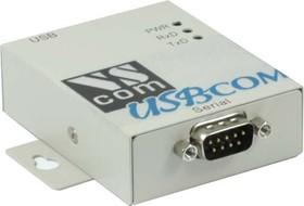 USB-COM-M, 1-портовый преобразователь USB в RS-232, крепление на DIN-рейку