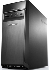 Компьютер LENOVO H50-00, Intel Celeron J1800, DDR3 2Гб, 500Гб, Intel HD Graphics, DVD-RW, CR, Free DOS, черный [90c1000hrs]