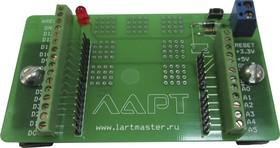 Фото 1/3 Терминальный адаптер для Arduino Uno, Плата расширения для установки контроллера Arduino UNO на DIN рейку