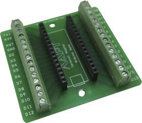Фото 1/2 Терминальный адаптер для Arduino nano, Плата расширения для удобного подключения датчиков, устройств систем контроля