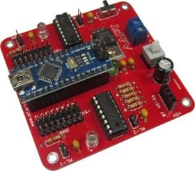 Фото 1/2 Контроллер R-5, Модуль управления для роботехники на базе Arduino NANO