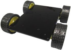 Фото 1/2 Шасси 4-х моторное II, Конструктор мобильной платформы для роботехники (черный)