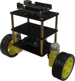 Шасси балансирующего робота, Конструктор мобильной платформы для роботехники (черный)