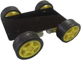 Шасси 4-х моторное, Конструктор мобильной платформы для роботехники (черный)