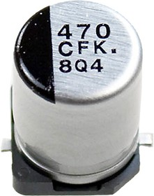 ЧИП электролит.конд. 470мкф 16В 105гр, 8x10.2(F) EEEFK1C471P