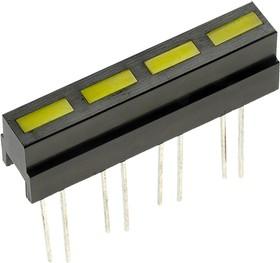 L-133CB/4YD, шкала 4 сегмент. желтый 28х4.8мм