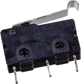 SM3-04P-40G-G, микропереключатель с лапкой 125В/250В 3A