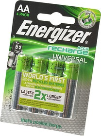 Energizer Recharge Universal АА1300мАч BL4, Аккумулятор