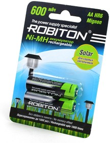 ROBITON SOLAR 600MHAA-2 BL2, Аккумулятор