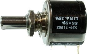 534B1502JC , потенциометр 5 KОм, 5%, 2 Вт