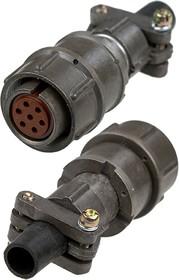 Фото 1/2 2PM18-7TKQB2, розетка на кабель 7 контактов (аналог 2РМТ18КПН7Г1В1В)