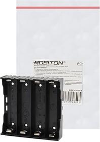 Фото 1/2 ROBITON Bh4x18650/pins с выводами для пайки PK1, Отсек для элементов питания