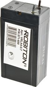 ROBITON VRLA4-0.7, Аккумулятор