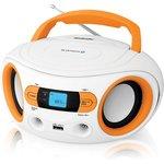 Аудиомагнитола BBK BS15BT белый/оранжевый 2Вт/MP3/FM(dig)/USB/BT