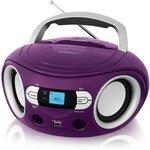 Аудиомагнитола BBK BS15BT фиолетовый 2Вт/MP3/FM(dig)/USB/BT