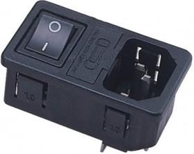 JR-101-1FRS, Разъем сетевой с выключателем и предохранителем