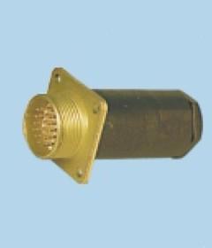 МР1-19-2-В с кожухом, Вилка приборная резьбовая с золоченными контактами