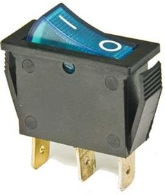 Фото 1/2 IRS-101-1C3D (синий), Переключатель с подсветкой ON-OFF (15A 250VAC) SPST 3P