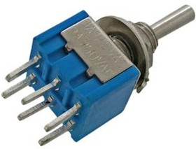 Фото 1/2 MTS-203 A-2, Тумблер ON-OFF-ON (3A 250VAC) DPDT 6P
