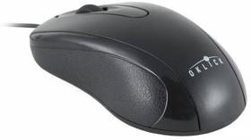 Мышь OKLICK 205M оптическая проводная USB, черный [m203]