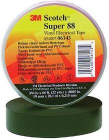 Scotch Super 88 19мм х 20м х 0.22мм черная, Изолента ПВХ высшего класса