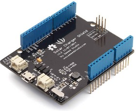 Фото 1/5 Solar Charger Shield v2.2, Зарядное устройство аккумуляторов от солнечных панелей для Arduino проектов