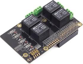 Фото 1/5 Raspberry Pi Relay Board v1.0, Плата расширения для Raspberry Pi, плата с 4-мя реле