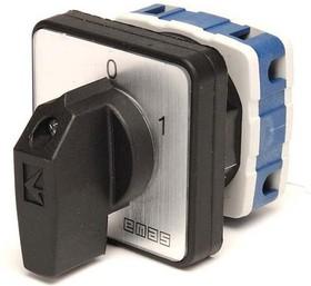 PSA025AK231S, Переключатель кулачковый на панель двухполюсный 25А 400VAC тип 1-2
