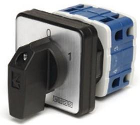 PSA025AK331S, Переключатель кулачковый на панель трехполюсный 25А 400VAC тип 1-2